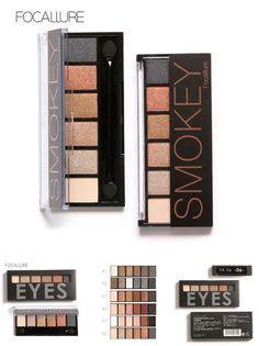 [Visit to Buy] Focallure  6 Colors Eyeshadow Palette Glamorous Smokey Eye Shadow Makeup Makeup Kit for eyes makeup #Advertisement