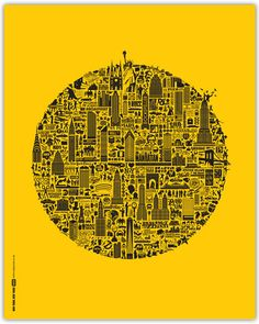 Stupidly detailed print with every iconic element that makes New York one of the most exciting cities in the world!