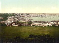 Falmouth station and harbour in the 1890's