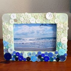 Use up some of your button stash creating a cute Ombre Button Frame with this tutorial!
