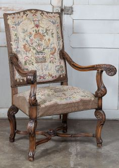 Antique French Louis XIV Tapestry Fauteuil | Antique Armchairs | Inessa  Stewartu0027s Antiques | Www.