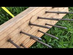 Homemade lawn aerator - YouTube