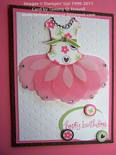 Stampin' Up! Petal Cone Stampin' Up! Bird Punch Nancy Amato Robin by karen cards Sweet Pink Tutu Card.Blossom Petals Builder punch and. Kids Cards, Baby Cards, Girl Birthday Cards, Art Birthday, Funny Birthday, Punch Art Cards, Paper Punch, Cute Cards, Creative Cards