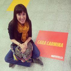 cara carmina is happy at Metro Berri!!! #Fiesta24h www.9artistes.ca  (applauses!!!!!!!!!!!!!!!!!)