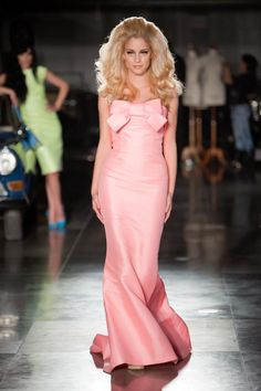 Doukissa Nomikou in Pink Mikado -- Vassilis Emmanuel Zoulias Haute Couture 2012 ❤️