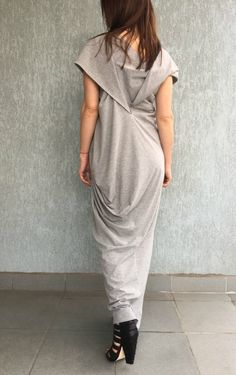 """Asymmetrical Maxi  Dress / Oversize Women Caftan / Maxi Summer Dress / Extravagant Dress / EXPRESS SHIPPING - """"Grape Fit"""""""