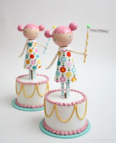 birthday cake topper (Does anyone know who's work this is? I've seen it before but can't figure out who it is.)