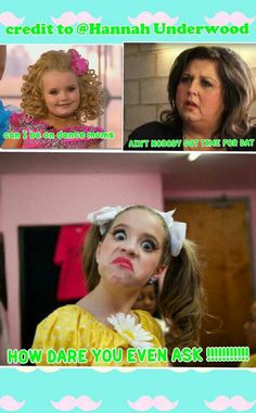 Dance moms comic credit to @Hannah Underwood please make sure you give me credit