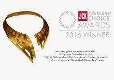 2016 Winner in JCK Jewelry Awards