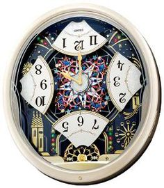 Seiko Musical Clocks | Seiko QXM239SRH Melodies in Motion Musical Clock - Courtney's Candles ...