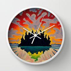Totem Island Wall Clock by Morgan Ralston - $30.00