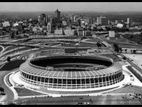 Opened 1965, demolished 1997 -- Completed in 1965, Atlanta's first major sports arena hosted a number of notable events over its 31-year lifespan. The Beatles played the place, as did the Atlanta Crackers, who closed out their final season in the new ballpark. Home to three of Atlanta's professional sports teams (the Braves, who relocated from Milwaukee; the Falcons and the soccer Chiefs), Atlanta Stadium saw Braves slugger Hank Aaron become MLB's all-time career home run leader when he hit ...