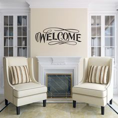 Sweetums Fancy Welcome Wall Decal 20-inch wide x 8-inch tall