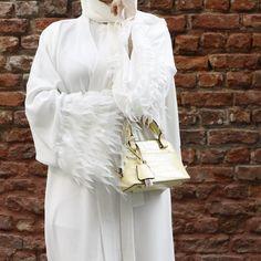 White Abaya🐝 #EsteeAudra #abaya