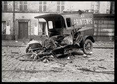 Agence photographique Rol, Paris : Une réserve de munitions explose à Saint-Denis. 23 morts et 81 blessés.