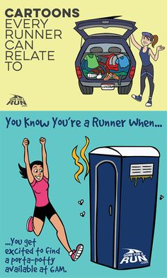 12 Funny Cartoons About Runners Funny Running Pictures, Funny Running Memes, Running Humor, Funny Memes, Run Runner, Runner Girl, Runner Problems, Cross Country Running, Running Costumes