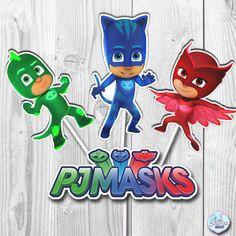 PJ Masks Cupcake Toppers PJ Masks Cake Toppers PJ Masks
