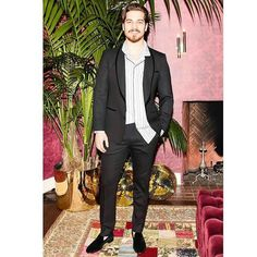 Dolce & Gabbana 2016 Los Angeles Fashion Pyjama Party. Very glamour in #DGMAN @cagatayulusoy_net in front of the fire at #DGPYJAMAPARTY event in Los Angeles. Photo by @bfa for @dolcegabbana.