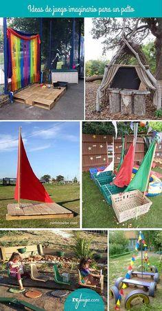Outdoor Fun For Kids Backyard Playground Outdoor Learning Spaces, Kids Outdoor Play, Outdoor Play Areas, Kids Play Area, Backyard For Kids, Backyard Projects, Outdoor Fun, Outdoor Ideas, Backyard Ideas