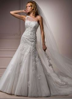 Best Selling One-shoulder Trumple/ Mermaid Wedding Dress Bridal Gowns
