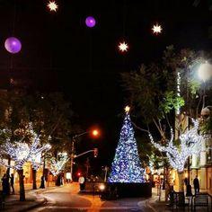 Santa Monica Third street promenade Christmas
