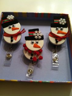 Registered Nurse SNOWMAN HCP ID Badge Holder made by RNbadge4you, $6.25