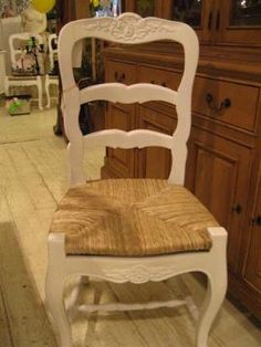 French Provincial dining ladder back chair
