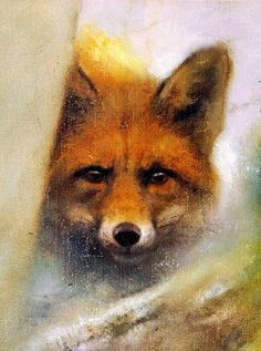 Red Fox painting by artist Rien Poortvliet. Norman Rockwell, Rockwell Kent, Fantastic Mr Fox, Fabulous Fox, Fennec, Fuchs Illustration, Illustrator, Fox Drawing, Fox Painting