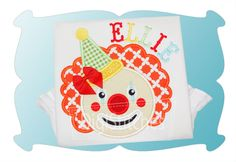 Clown Applique - DigiStitches Machine Embroidery Designs
