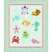 Under The Sea Quilt Blanket Ocean Quilt, Fish Quilt, Baby Girl Quilts, Girls Quilts, Children's Quilts, Quilt Baby, Baby Quilt Patterns, Applique Patterns, Quilting Patterns
