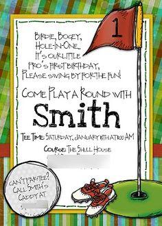 Golf Party Invitation  www.slightlyaskewdesigns.com