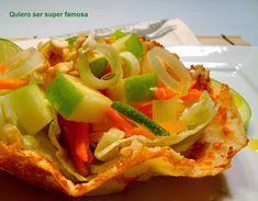 QUIERO SER SÚPER FAMOSA: Ensalada de manzana verde en crujiente de queso