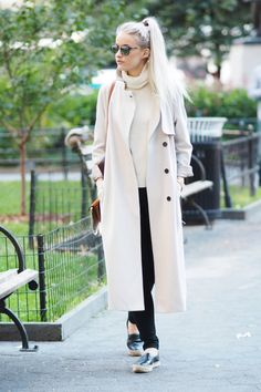Is this the perfect Fall outfit? Aquascutum trench teamed with a Revolve jumper, a tobacco Chloe Faye and my beloved Chanel Espadrilles