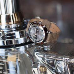 #watchoftheday #briston #watch #clubmaster #sport #acetate #chronograph #silvergrey #dial ©Pierre Le Targat