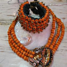DBANE wood ZAR 375 DNBR 3 strand hand dyed wooden beads shell, gem and beads cameo ZAR 420  available in all colours