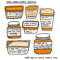 More Unbelievable Spreads:  Gemma Correll's tumblr of things and stuff