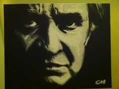 Johnny Cash  by ~Stencils-by-Chase