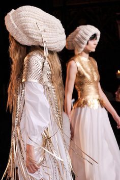 oversized beanie from Giles Fall 2013