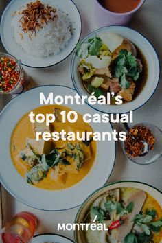 Below is our list of favourite casual spots that will bring pleasure to your taste buds. Montreal Food, Montreal Travel, Resto Montreal, Montreal Quebec, Curry Dishes, Pork Dishes, Food Places, Best Places To Eat, Restaurant Drinks