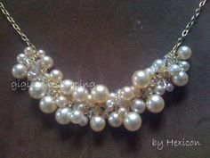 DIY Ribbon and Pearl Necklace | Woo hoo! Thanks, Hexicon for sharing your DIY necklace tutorial: