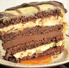 Caramel Irish Cream Cake serving