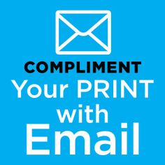 I great informative read about why you should compliment direct mail with email marketing