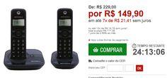 Telefone sem Fio  1 Ramal Motorola Conferência a Três Identificador de Chamadas DECT 6.0 << R$ 14990 em 7 vezes >>