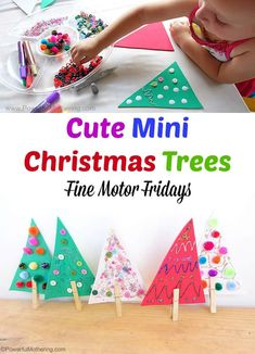 Quick and easy Christmas fine motor skills idea for toddlers!