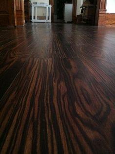 Trafficmaster African Wood Dark 6 In X 36 In Luxury Vinyl Plank Flooring 24 Sq Ft Case