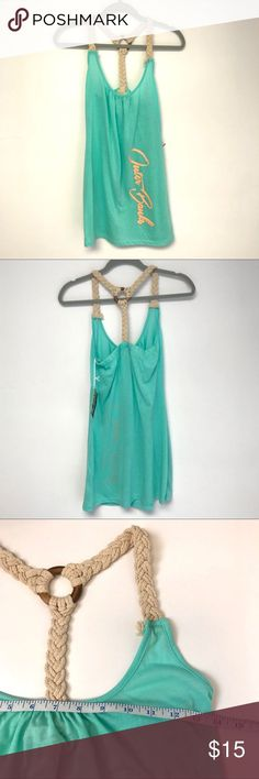 0b5031089d793 Lagaci | mint braided strap swimsuit coverup dress Lagaci mint/sea foam  green br.