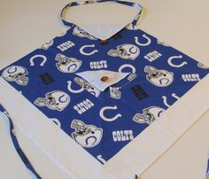 Hand Made Woman's Apron Indianapolis Colts Football by ItsOurTime, $28.00