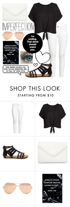 """""""Made this at school (insert laughing emoji)"""" by gabby0604 ❤ liked on Polyvore featuring H&M, New Look, Neiman Marcus and Linda Farrow"""