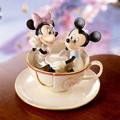 LENOX Figurines: Disney - Disney's Mickey's Teacup Twirl Figurine
