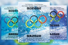 Winter Olympic Flyer by Krukowski Graphics on @creativemarket